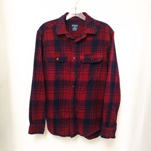 Faded Glory Navy & Red Plaid Shirt